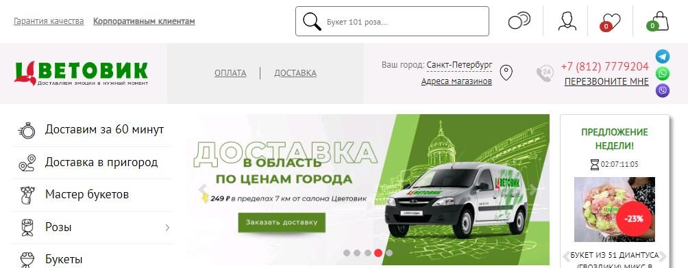 Cvetovik.com активировать карту Цветовик